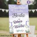 Cartel de Bienvenida Boda - Madera